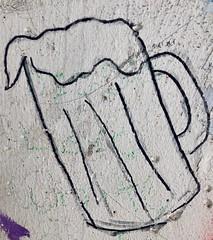 Beer Graffiti (rabidscottsman) Tags: scotthendersonphotography beer drink alcohol graffiti beergraffiti saturday bridge cement concrete black drawing drawbridge highway10 mug beermug coldfrostyone wisconsin prescottwisconsin westernwisconsin underthebridge weekend geotagged ios iphone appleiphone iphone8