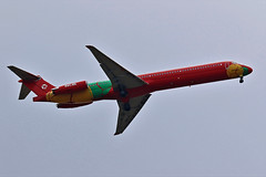 OY-RUE DAT MD-83 PASSING FRONT WINDOW THIS AFTERNOON (toowoomba surfer) Tags: jet aeroplane aviation aircraft airline airliner ncl