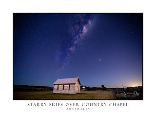 Mikly Way over rustic country church