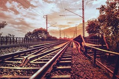 Lonely (Rishabh_Sharma_In) Tags: canon eos 1200d delhi train railway abandoned lonely silence ghost adobe photoshop photography india sunset shine smooth light landscape concept art frame last us best beautiful south darkness abstract natural nikon