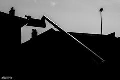 Rise up ('aNtOiNe') Tags: nb bw noiretblanc nikon flickrfriday rise up antoine antoinepillaud work roof huateur hauteur vertige vertical engin street rue limousin limoges stléonarddenoblat 1855 d3300 apsc