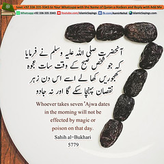 Whoever-Takes-Seven-Ajwa-Dates (aamirnehal) Tags: quran hadees hadith seerat prophet jesus moses book aamir nehal love peace quotes allah muhammad islam zakat hajj flower gift sin virtue punish punishment teaching brotherhood parents respect equality knowledge verse day judgement muslim majah dawud iman deen about son daughter brother sister hadithabout quranabout islamabout riba toheed namaz roza islamic sayings dua supplications invoke tooba forgive forgiveness mother father pray prayer tableegh jihad recite scholar bukhari tirmadhi