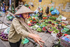 Hanoi, Vietnam (gstads) Tags: hanoi hà nội vietnam vietnamese market street streetscene streetphotography hat cone conical conicalhat carryingpole shoulderpole yoke fruit vegetables food