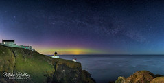 St Abbs aurora ... (Mike Ridley.) Tags: aurora astrophotography astrophotographer stabbs stabbshead stabbslighthouse sonya7s samyang24mmf14 mikeridley
