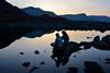 Serenity (Gwenael B) Tags: snowdonia reflet reflection lake bluehour girls silhouettes sunset mountains hiking randonnée lac montagne wales uk