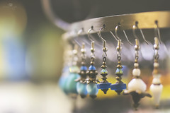 at the kasbah (rockinmonique) Tags: macro jewellery earring muttart yelow blue pretty sparkly moniquewphotography canon canont6s tamron tamron45mm copyright2018moniquewphotography