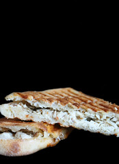 2018 Sydney: Toasted Chicken & Cheese (dominotic) Tags: 2018 food lunch sandwich toastedchickencheesesandwich blackbackground yᑌᗰᗰy sydney australia