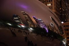 CloudGate_114953 (gpferd) Tags: bean building chicago cloudgate construction landmark lights litlights night reflection illinois unitedstates us
