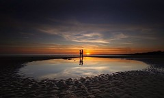 The Unknown Lovers (Tim Bow Photography) Tags: 2018 summer wideangle reflection welshsunset porthcawl wales beachproposal proposed lover love engagement moment people silhouette epic sunset landscape timbowphotography unknownlovers