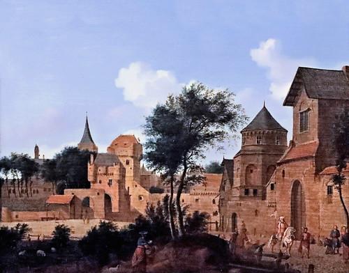 IMG_0771 Jan van der Heyden. 1637-1712 Amsterdam The triumph of Mordechai Le triomphe de Mordechai Schwerin.Staatliches Museum