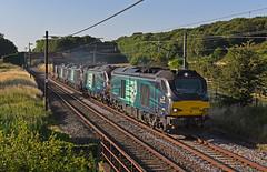 Flask Train (garstangpost.t21) Tags: 6k73 sellafield crewe woodacre 68002 68005 88008 88002 lancashire