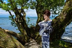 Yukata appearance on the lake side (HarQ Photography) Tags: fujifilm fujifilmxseries xt2 xf23mmf14r portrait japan lakebiwa yukata kimono lakeside tree