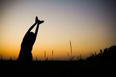 Summer Bird (CoolMcFlash) Tags: canon eos 60d summer silhouette bird woman person silhoutte dusk sunset sundown sky nature negativespace copyspace sommer kontur vogel frau abend sonnenuntergang himmel natur fotografie photography tamron a007 2470 field feld