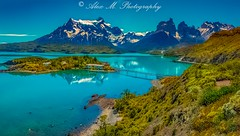 Lake Pehoe (The Happy Traveller) Tags: torresdelpaine mountains lagopehoe chile southamerica lake nwn