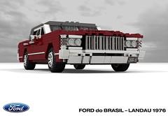 Ford do Brasil - Landau 1976 (lego911) Tags: ford landaul ltd galaxie 1966 1976 sedan saloon do brasil brazil v8 luxury south america auto car moc model miniland lego lego911 ldd render cad povray 1970s classic