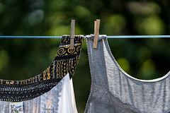 'Chance Encounter' (Canadapt) Tags: clothesline pegs blouse shirt metaphor keefer canadapt