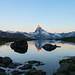 Pirme luci sulla Grande Becca (ez.81) Tags: svizzera cervino zermatt lago alba riflesso monte alpi