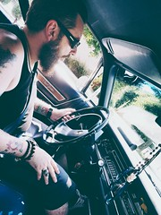 A l ancienne (yvescurtolo) Tags: portrait musclecar hipster chrysler tatoo tatouage