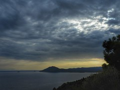 24/7/2018..Lesvos island Greece (panoskaralis) Tags: sunset sunlight sky skyclouds clouds sea horizon rainy rainyday outdoor landscape view seaview lesvos lesvosisland mytilene greece greek hellas hellenic nikon nikoncoolpixb700 aegean aegeansea