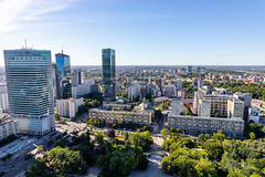Panorama of Warsaw from Palace of Culture and Science (Michał Banach) Tags: canoneos5dmarkiv pkin palaceofcultureandscience pałackulturyinauki poland polska tamronsp2470mmf28divcusdg2 warsaw warszawa architecture bluesky building buildings city cityscape colors observationdeck mazowieckie pl