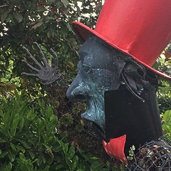 The Mad Hatter (Katie-Rose) Tags: ralphcourtgardens bromyard madhattersteaparty metal scary herefordshire 16strange 52in2018challenge