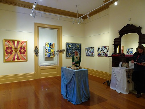 Fullarton. Art Exhibition in the Hughes Gallery at Hughes Park Community Centre 2018.  Exhibition is called Manifestations of the Unconscious.