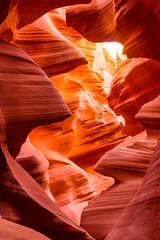 Antelope Canyon (languitar) Tags: stone rock usa antelopecanyon canyon valley lowerantelopecanyon navajonationreservation arizona wall colors orange red unitedstatesofamerica rocks lechee unitedstates us