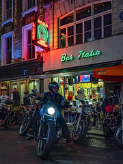 The Bike Meet (Mike Hewson) Tags: soho london baritalia motorbike night street streetsoflondon city urban panasonic lumix gh5 micro43 microfourthirds mirrorless csc photo24