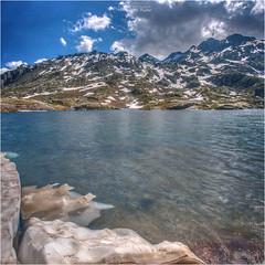Gotthardpass (Hanspeter Ryser) Tags: gotthardpass gotthard wasser berge fels schnee wolken tessin uri schweiz switzerland abendstimmung blauestunde hanspeter ryser fotografie art urschweiz andermatt san gottardo