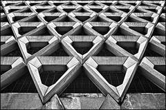 UK - London - Marylebone Lane Car Park_mono v2_DSC3869 (Darrell Godliman) Tags: uklondonmarylebonelanecarparkmonov2dsc3869 concrete structure carpark london brutalist brutalism mono monochrome bw blackandwhite