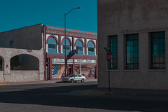 (el zopilote) Tags: tucumcari newmexico street architecture townscape signs stop smalltowns powerlines storefronts wheels cars ford canon eos 1dsmarkiii canonef24105mmf4lisusm fullframe