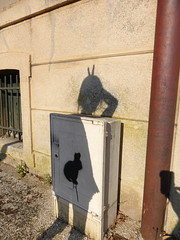 Promenade autour de l'Ile St Etienne au milieu de la Seine, Melun, ombre d'Alice et du lapin (delphinecingal) Tags: lapin alice ilestetienne seine melun