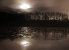 Untitled (Bill Eiffert) Tags: trees emotion atmosphere pictorial water ice sun reflection