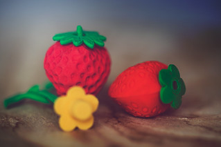 Strawberry Erasers