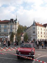 Classic Cars at Prešeren Square I (marco_albcs) Tags: ljubljana lj slovenia slovenija prešeren square trg classic cars view