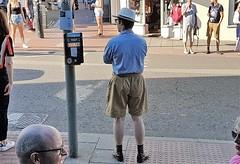 Old Fashioned Attire. (ManOfYorkshire) Tags: oldfashioned attire clothing man gentleman 1950s look feel shorts big hat panama socks shoes shirt vintage nostalgia comfortable