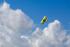 Crop Duster Going Around For Another Pass (Mike Schaffner) Tags: airplane biplane clouds cropduster plane sky brookshire texas unitedstates us