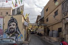 Mar Elias refugee camp, Beirut, Lebanon (Ingunn Eriksen) Tags: mareliasrefugeecamp beirut lebanon nikond750 nikon mural streetart arafat