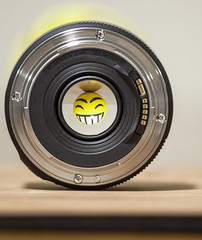 Photography Gear - [MacroMondays_20180723] (Arranion) Tags: photographygear macromondays macromonday macromania 50mm smile smiling smiley funny ef efmount niftyfifty canon eos 5d2 photographyequipment equipment gear