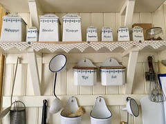 Swedish Kitchen (jchants) Tags: 118in2018 28interior kitchen sweden stockholm skansenfolkmuseum whisk grater cannisters