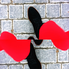 Balance? (Therese Trinko) Tags: balance edit shoes perspective forcedperspective red spring madrid europe