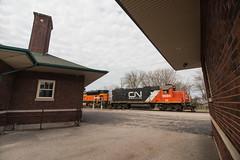 Station Stop (Jake Branson) Tags: train railroad locomotive canadian national illinois il central effingham emd gp382 station depot