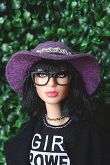Joan Jett likes purple (FreeRangeBarbie) Tags: barbie joanjett fashiondoll madetomove hippy boho festival rockandroll