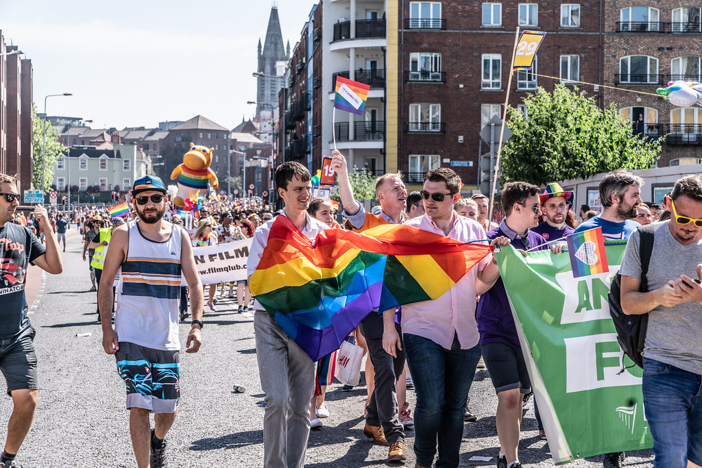 ABOUT SIXTY THOUSAND TOOK PART IN THE DUBLIN LGBTI+ PARADE TODAY[ SATURDAY 30 JUNE 2018] X-100097