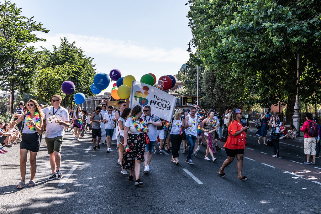 ABOUT SIXTY THOUSAND TOOK PART IN THE DUBLIN LGBTI+ PARADE TODAY[ SATURDAY 30 JUNE 2018] X-100136
