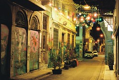 (fritz london) Tags: pentaxk1000 smcpentaxm50mmf17 kodakportra800 35mm color film athens greece night
