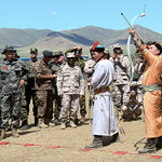 Mongolian Armed Forces Hold Nadaam Festival for Khaan Quest Participants thumbnail