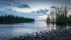 Alone after sunset (henrik_thiele) Tags: sunset long exposure holidays chiemsee sonnenuntergang blue hour blaue stunde bavaria calmness