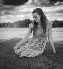 Pause, so you can live forever. (lawsonpix) Tags: girl field outdoors ambient shade grass hss flash