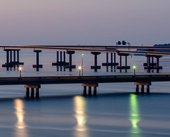 Bridges (Edwin Wagner) Tags: longexposure bridges water blue reflections neuseriver newbernnc sonya7riii